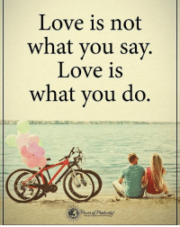 Memes, What You Doing, and 🤖: Love is not  what you say.  Love is  what you do Love is not what you say. Love is what you do. powerofpositivity