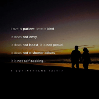 Memes, Patient, and Proud: Love is patient, love is kind  It does not envy,  it does not boast, it is not proud  It does not dishonor others  it is not self-seeking  C O R IN T H  I A N S  1 3  4 7 <3 God's Way  .