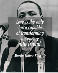 🙌✊🙌✊🙌: Love is the on  force capable  of transforming  an enem  nto friehd  ㄇ  Martit Lither King 🙌✊🙌✊🙌