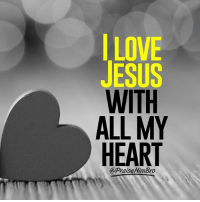 Jesus, Love, and Memes: LOVE  JESUS  WITH  ALL MY  HEART  3  @PraiseHimBro Do you feel the same? ❤