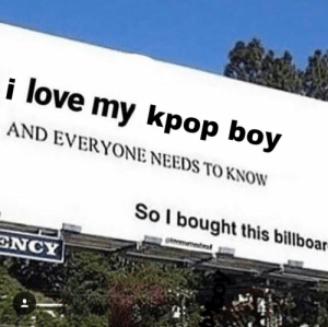 : love my kpop boy  AND EVERYONE NEEDS TO KNOW  Sol bought this billboar  clovememesforal  ENCY
