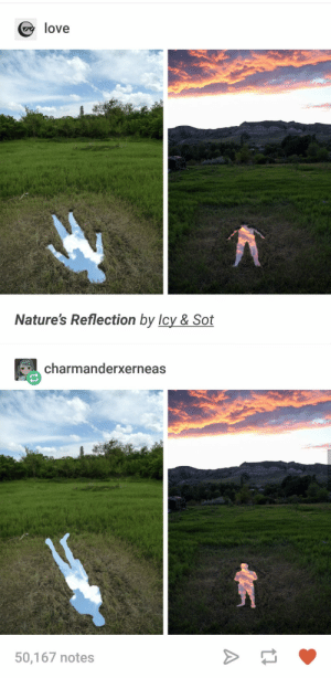 Natures Reflection: love  Nature's Reflection by Icy & Sot  charmanderxerneas  50,167 notes Natures Reflection