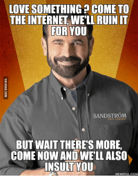 You Gay: LOVE SOMETHING COME TO  THE INTERNET WELL RUIN IT  FOR YOU  ONTV COMPANY  BUT WAIT THERE'S MORE  COME NOW AND WELL ALSO  INSULT YOU  MEMEFUL.COM