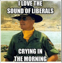 Such a good feeling: LOVE THE  SOUND OF LIBERALS  CRYING IN  THE MORNING Such a good feeling