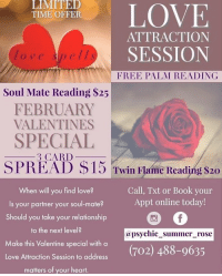 LOVE TIME OFFER ATTRACTION SESSION Love Spells FREE PALM
