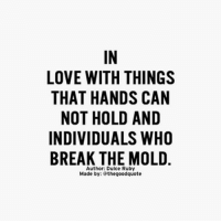 Memes, 🤖, and Mold: LOVE WITH THINGS  THAT HANDS CAN  NOT HOLD AND  INDIVIDUALS WHO  BREAK THE MOLD  Author: Dulce Ruby  Made by:  the good quote Words from @dulceruby
