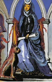 Tumblr, Blog, and Salvador Dali: loveage-moondream:The High Priestess - Salvador Dali Tarot.