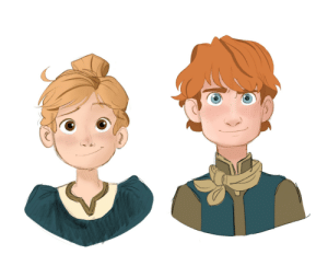 "lovelysheree:  My take on Kristoff and Anna's kiddos (assuming they'll have kids).  ""Assuming they have kids""Anna proved that she's down to fuck anytime and every time. They having kids.: lovelysheree:  My take on Kristoff and Anna's kiddos (assuming they'll have kids).  ""Assuming they have kids""Anna proved that she's down to fuck anytime and every time. They having kids."
