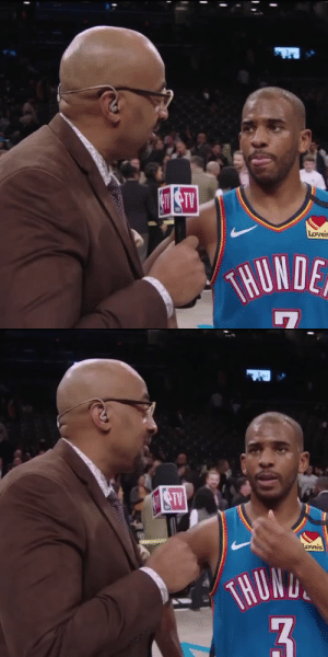 """Flashback? From what?""   Chris Paul after scoring 20 of his 28 PTS in the 4th & OT.    https://t.co/zqmUX5QKqW: Loves  THUNDE   STV  oves  THOND  3. ""Flashback? From what?""   Chris Paul after scoring 20 of his 28 PTS in the 4th & OT.    https://t.co/zqmUX5QKqW"
