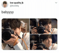 Canon, Bts, and Bts Jungkook: low quality jk  @kooklq  babyyyy  Canon  Canon #bts #jungkook