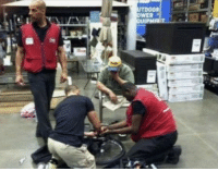 Lowes employees came to the rescue for a disabled veteran with a broken wheelchair.    They replaced all the broken pieces and said they were going to make it like new. https://t.co/oczloo1nz4: Lowes employees came to the rescue for a disabled veteran with a broken wheelchair.    They replaced all the broken pieces and said they were going to make it like new. https://t.co/oczloo1nz4