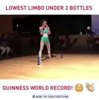 Memes, 🤖, and Limbo: LOWEST LIMBO UNDER 2 BOTTLES  GUINNESS WORLD RECORD!  NOW I VE SEEN EVERYTHING