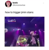 Tumblr, Blog, and How To: lowla  @kimsnowtae  how to trigger jimin stans: parkjiminmochiboibts: MY MAN JIMIN SHOWING OFF HIS CHILI PEPPER. cr: kimsnowtae