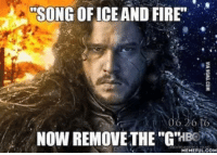 """Hbo, Memes, and 🤖: l""""SONG OF ICE AND FIRE'  20 to  NOW REMOVE THE """"GR  HBO  MEMEFUL COM"""