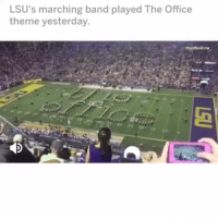 Dude, Memes, and The Office: LSU's marching band played The Office  theme yesterday.  theofficeshow DUDE. WE'VE WON. LINK IN BIO FOR THE BEST OFFICE QUIZZES! VIEW STORY HIGHLIGHT FOR MORE ———— theoffice dundermifflin dwightschrute michaelscott theofficeshow parksandrec