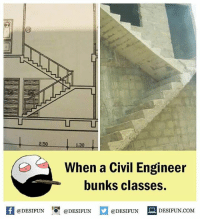Twitter: BLB247 Snapchat : BELIKEBRO.COM belikebro sarcasm meme Follow @be.like.bro: LT  2.50  1.30  When a Civil Engineer  bunks classes.  K @DESIFUN 증@DESIFUN口  @DESIFUN DESIFUN.COM Twitter: BLB247 Snapchat : BELIKEBRO.COM belikebro sarcasm meme Follow @be.like.bro