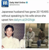 Funny, Rails, and Rail: lti Daily Mail Online  @MailOnline  Rail  Japanese husband has gone 20 YEARS  without speaking to his wife since she  upset him  dailym.ai/2hDIVgk a new level of petty omg