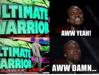 Dammit Warrior! I was hoping for one more run to the ring, lol -TY-: LTIMATE  WARRIOR  AWW YEAH!  TIMAR  AWW DAMN  FBCOMANWEMEMES  monnego Dammit Warrior! I was hoping for one more run to the ring, lol -TY-