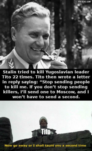 Luckily Stalin listened and did not try to send in more assassins using a Trojan rabbit.: Luckily Stalin listened and did not try to send in more assassins using a Trojan rabbit.