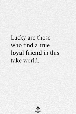 Fake, True, and World: Lucky are those  who find a true  loyal friend in this  fake world  ELATIONGHIP  SLES