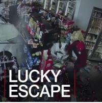 Crush, Memes, and New York: LUCKY  ESCAPE 21 FEB: A man in New York has had an extraordinary escape after he was crushed by a car in a supermarket. Find out more: bbc.in-bronxcrash Crash Bronx NewYork CarCrash BBCShorts BBCNews @BBCNews