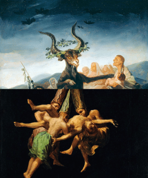 England, Goya, and Tumblr: lucreciasmartel:THE VVITCH: A New-England Folktale, 2015 dir. Robert EggersWitches Sabbath, 1789 / Witches Flight, 1798 by Francisco de Goya