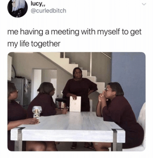 Life Together: lucy,,  @curledbitch  me having a meeting with myself to get  my life together