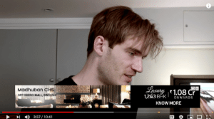youtube.com, Video, and Real Estate: Lueary  1,283 BHK  Madhuban CHS  OPP OBEROI MALL, DINDOSHI  1.08 Cr  ONWARDS  KNOW MORE  3:37/ 10:41  CC  П I actually got a real estate ad on Pewds' latest video (youtube is broken)