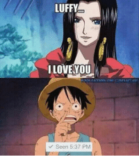 Friendzone, Memes, and Monkey: LUFFY  I LOVE YOU  Seen 5:37 PM Friendzone Level: Monkey D. Luffy :v