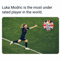Modric 👏🏻🔥: Luka Modric is the most under  rated player in the world.  WETROLL  FOOTBALL  0 Modric 👏🏻🔥
