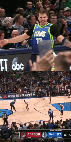 LUKA WITH THE DAGGER THREE!   35 PTS in 34 MINS 8 3PTS (Career-high) 8 REB 7 AST  https://t.co/m7gvX3WXiw: LUKA WITH THE DAGGER THREE!   35 PTS in 34 MINS 8 3PTS (Career-high) 8 REB 7 AST  https://t.co/m7gvX3WXiw