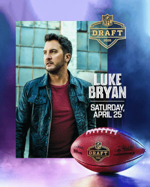 Luke Bryan in the house! Well, in his house. Luke, in partnership with @Verizon's Pay it Forward Live will perform during the NFL Draft on Saturday, April 25 at 12pm ET on @nflnetwork @espn @ABCNetwork #NFLDraft @LukeBryanOnline https://t.co/qz3JZMVlv9: Luke Bryan in the house! Well, in his house. Luke, in partnership with @Verizon's Pay it Forward Live will perform during the NFL Draft on Saturday, April 25 at 12pm ET on @nflnetwork @espn @ABCNetwork #NFLDraft @LukeBryanOnline https://t.co/qz3JZMVlv9