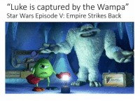 "Star Wars, Strike Back, and Star War: ""Luke is captured by the Wampa""  Star Wars Episode V: Empire Strikes Back Incorrect Films"