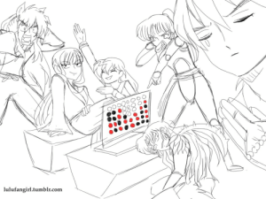 Beautiful, Internet, and Target: lulufangirl.tumblr.com  O00 inuyasha-universe:  meselfandwhy:  sankontesu:  lulufangirl:  And thus Naraku was defeated.  This is the most beautiful thing on the Internet.   I'M CACKLING!!!!  Kikyo's face.. ?