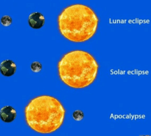 Meme, Eclipse, and Dank Memes: Lunar eclipse  Solar eclipse  Apocalypse Solar Eclipse meme