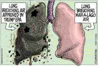 LUNG  BREATHING AIR  APPROVED BY  TRUMP EPA  LUNG  BREATHING  MAR-ALAC0  AIR Monte Wolverton, caglecartoons.com