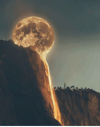 luteroclockworker:  sixpenceee:  This perspective makes it look like the moon is melting. (Source)  You fool, it is melting. The end times are upon us.: luteroclockworker:  sixpenceee:  This perspective makes it look like the moon is melting. (Source)  You fool, it is melting. The end times are upon us.