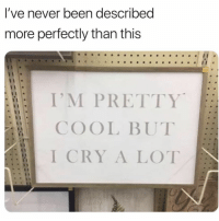 big mood 😭 (@mytherapistsays): l've never been described  more perfectly than this  I'M PRETTY  COOL BUT  I CRY A LOT big mood 😭 (@mytherapistsays)
