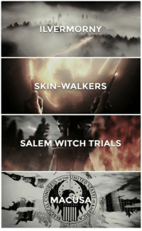 Magic Monday (Harry Potter/Fantastic Beasts posts) -That One Winchester: LVERMORNY  SKIN-WALKERS  SALEM WITCH TRIALS  THE Magic Monday (Harry Potter/Fantastic Beasts posts) -That One Winchester