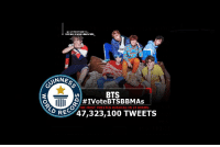 "Anaconda, Tumblr, and Twitter: @LVOTEBTSBBMAs  OTING IS NOW UNLOCKED  GOL  ns  NNES  BTS  #IVoteBTSBBMAs  THE MOST TWEETED HASHTAG IN 24 HOURS  RE 47,323,100 TWEETS <p><a href=""http://allforbts.com/post/173929587665/lvotebtsbbmas-guinness-world"" class=""tumblr_blog"">allforbts</a>:</p>  <blockquote><blockquote><p><small><b><span><a href=""https://twitter.com/lVoteBTSBBMAs"">lVoteBTSBBMAs</a></span> </b>GUINNESS WORLD RECORDS:  <span><a href=""https://twitter.com/hashtag/IVoteBTSBBMAs?src=hash"">#<b>IVoteBTSBBMAs</b></a></span><span><a href=""https://twitter.com/hashtag/IVoteBTSBBMAs?src=hash""></a></span> is the most tweeted hashtag in 24 hours, with 47,323,100 tweets! Congratulations <span><a href=""https://twitter.com/BTS_twt"">@<b>BTS_twt</b></a></span> and all ARMYs!</small></p></blockquote></blockquote>"