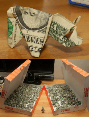 """quillusquillus:  nicksaw:Man pays for $137 traffic ticket with 137 origami pigs, delivered in doughnut boxes.the most tasteful""""fuck you"""" I have ever seen: LWLS  ASHINGTON, D.C.  OF  THE   13  JDUNKIN  IDUNKIN  DONUTS quillusquillus:  nicksaw:Man pays for $137 traffic ticket with 137 origami pigs, delivered in doughnut boxes.the most tasteful""""fuck you"""" I have ever seen"""