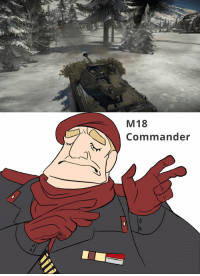 When you flank just right: M 18  Commander When you flank just right