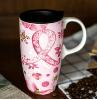 Dank, Love, and Breast Cancer: )M  3ch Show your support with this lovely Pink Ribbon Floral Travel Mug! Featuring a delightful pink ribbon, flowers and with a handy acrylic lid, this mug is a lovely way to spread Breast Cancer Awareness. Get yours on sale today!   ★ORDER NOW★ http://po.st/Ms1XZy