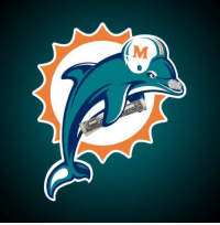 Memes, Miami Dolphins, and Dolphins: (M BREAKING: Miami Dolphins unveil new logo for the rest of the 2017/18 season. https://t.co/j6p5SOqKTY