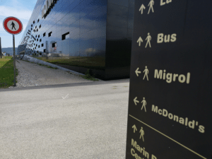 """McDonalds, Zen, and Bus: M Bus  RMigrol  R  McDonald's  Marin  Cen """"To follow that path, you must both be and not be"""" - Some zen-ish proverb"""