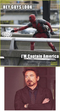 America, Deadpool, and Jared: 'M Captain America  UST  JARED <p>Wrong Universe, Deadpool</p>