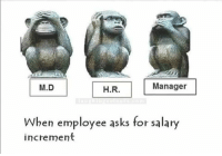 Indianpeoplefacebook, Asking, and Asks: M.D  H.R.  Manager  ben employee asks for salary  increment Sir, Mera Increment Kab Hoga Batao Na ... ??