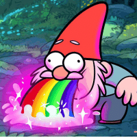 I wish I could do this vomit rainbow gnome gravity falls gravityfalls: m I wish I could do this vomit rainbow gnome gravity falls gravityfalls