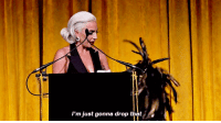 edqeofglory:Lady Gaga before her speech at National Board of Review Awards: 'm just gonna drop thete edqeofglory:Lady Gaga before her speech at National Board of Review Awards