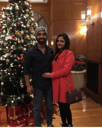 Memes, Ajinkya Rahane, and Celebrities: M Mr. and Mrs. Ajinkya Rahane celebrate Christmas together
